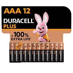 Duracell Plus 100 AAA Pack of 12