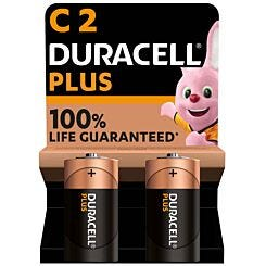 Duracell Plus 100 C Pack of 2