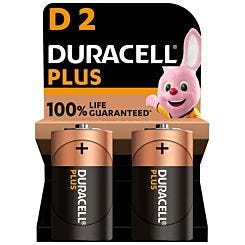 Duracell Plus 100 D Pack of 2