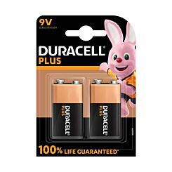 Duracell Plus 100 9 Volt Pack of 2