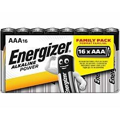 Energizer Alkaline Power AAA Batteries Pack of 16