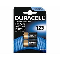 Duracell 123 Batteries Pack of 2