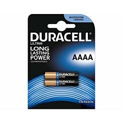Duracell Ultra AAAA Batteries Pack of 2