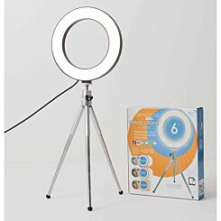 Smoovie Ring Light 6 Inch with Chrome Tripod