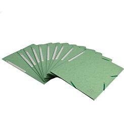 Exacompta Portfolio Folder A4 Elasticated Pack of 10 Lime