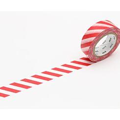 mt Washi Tape Stripes Red Stripe