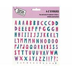 Express Yourself Pastel Alphabets Sticker Sheet