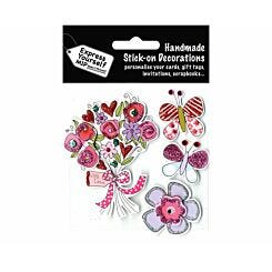 Express Yourself Bouquet and Butterflies Stick-On Decorations