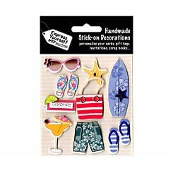 Express Yourself Beach Accessories Stick-On Decorations