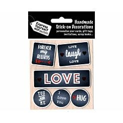 Express Yourself Love Captions Stick-On Decorations