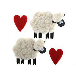 Express Yourself Sheep & Hearts Handmade Decorations