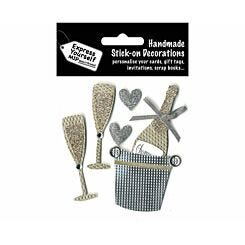 Express Yourself Champagne Bucket Stick-On Decorations