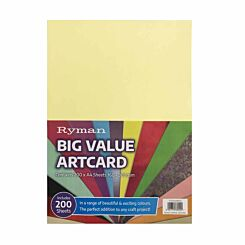 Ryman Big Value Artcard Pack of 200
