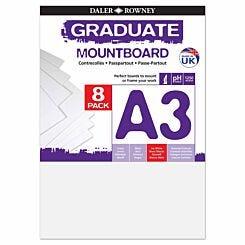 Graduate Mount Board A3 1250 Microns 8 Pack