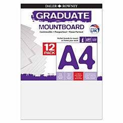 Graduate Mount Board A4 1250 Microns 12 Pack