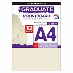 Graduate Mount Board A4 1250 Microns 12 Pack Ivory