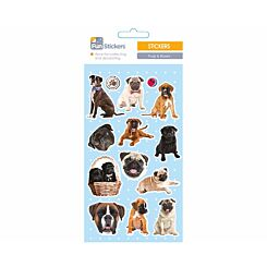 Fun Stickers Pugs and Boxers Theme