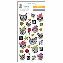 Fun Stickers Funky Cat
