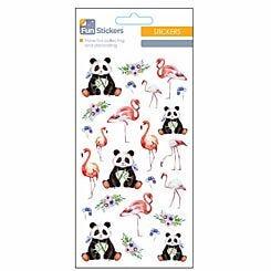 Fun Stickers Flamingo and Panda