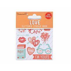 Dovecraft Love Glittered Sticker Book