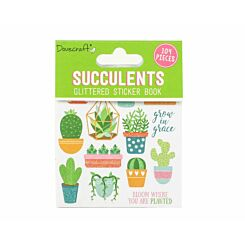 Dovecraft Succulents Glittered Sticker Book
