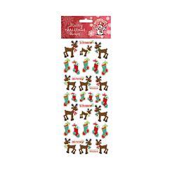 Rudolph Stocking Christmas Stickers