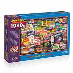 Gibsons Sweet Memories 80s 1000 Piece Jigsaw Puzzle