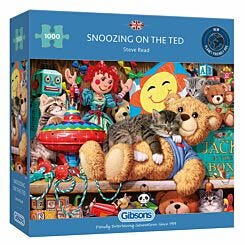 Gibsons Snoozing on the Ted 1000 Piece Jigsaw Puzzle