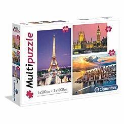 Clementoni Famous Landscapes Jigsaw Puzzle Multipack