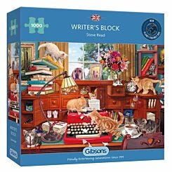 Gibsons Writers Block 1000 Piece Jigsaw Puzzle