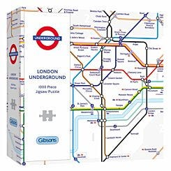 Gibsons London Underground Map 1000 Piece Jigsaw Puzzle