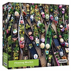 Gibsons Floating Market Jigsaw Puzzle 500 Piece
