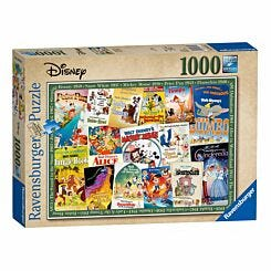 Ravensburger Disney Vintage Movie Posters 1000 Piece Jigsaw Puzzle
