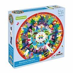 Gibsons Rainbow Heroes 500 Piece Circular Jigsaw Puzzle