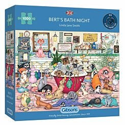 Gibsons Berts Bath Night 1000 Piece Jigsaw Puzzle