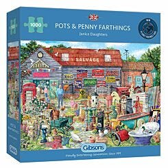 Gibsons Pots and Penny Farthings 1000 Piece Jigsaw Puzzle