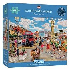 Gibsons Clocktower Market 1000 Piece Jigsaw Puzzle