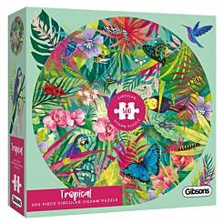Gibsons Tropical Circular 500 Piece Jigsaw Puzzle