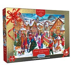 Gibsons Light up The Night Christmas 1000 Piece Puzzle
