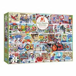 Gibsons Space Hoppers and Scooters 1000 Piece Puzzle