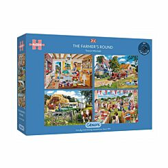 Gibsons Farmers Round 4 Set 500 Piece Puzzles
