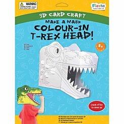 T-Rex Colour-in 3D Mask