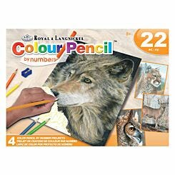 Royal and Langnickel Colour Pencil by Numbers Set North American Wildlife