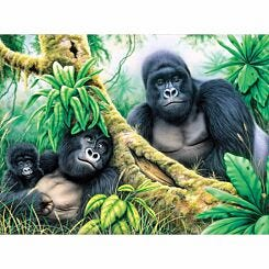 Royal Brush Paint by Numbers Kit Mountain Gorilla Large