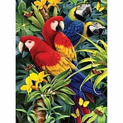 Royal Brush Paint by Numbers Kit Majestic Macaws Small