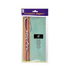 Creativity Lustre Lites Tissue Paper Pack of 12 Sheets Assorted