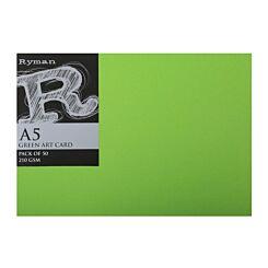 Ryman Art Card A5 210gsm Pack of 50 Green