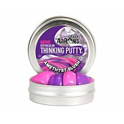 Crazy Aarons Thinking Putty Heat Sensitive Amethyst Blush Mini Tin