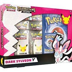 Pokemon TCG 25th Anniversary Celebrations V Box Lance's Charizard V and Dark Sylveon