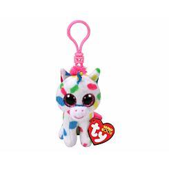 ty Harmonie Unicorn Beanie Boo Clip Keyring